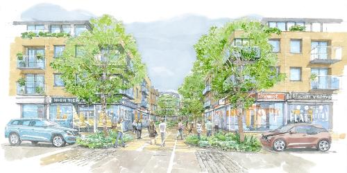 An image relating to £45m High View regeneration approved