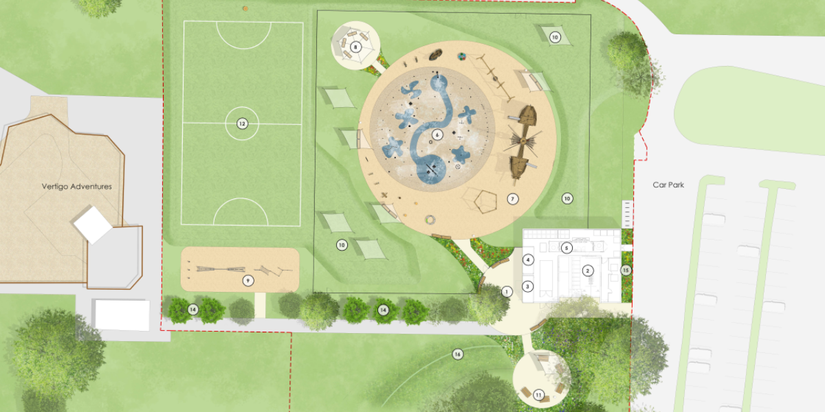 The site plan for the new Splashlands leisure facility.