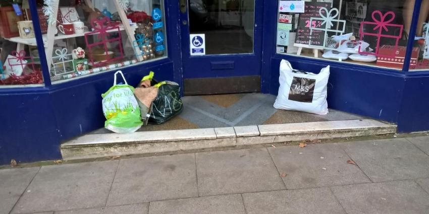 Charity shop fly-tip