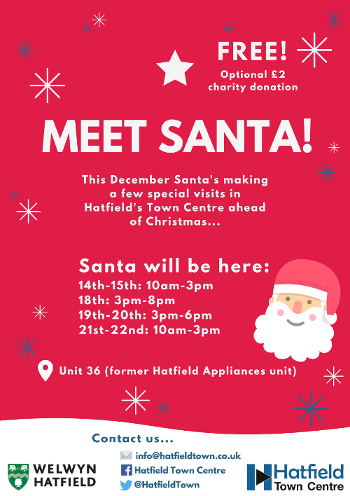 Opening times for Santa's Grotto