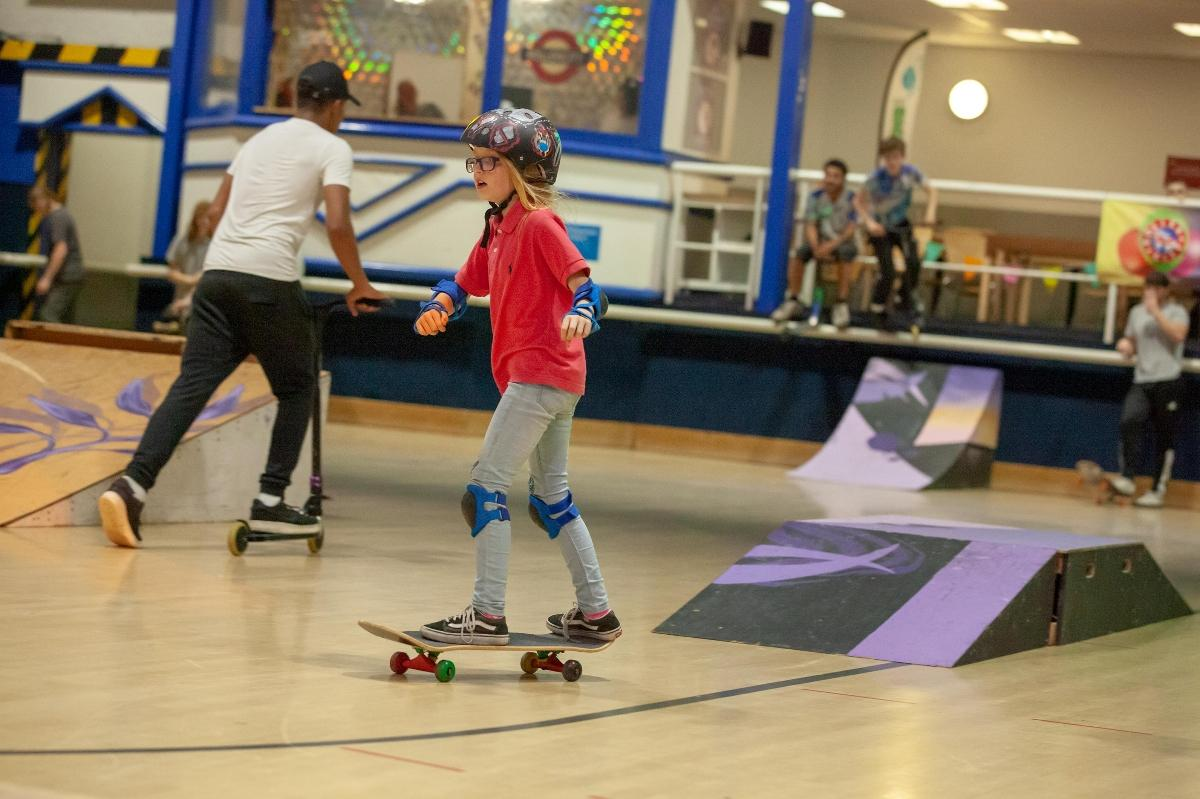 Skateboarding courses at Roller City