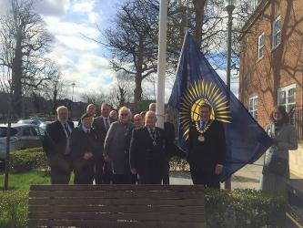 An image relating to Mayor raises Commonwealth flag