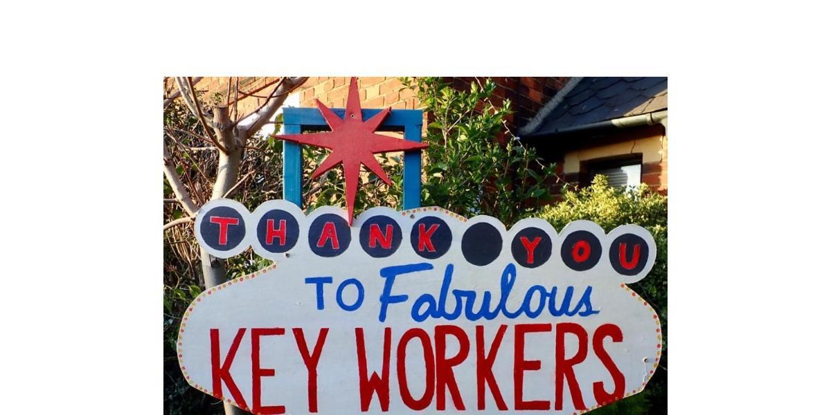 Amazing key worker sign