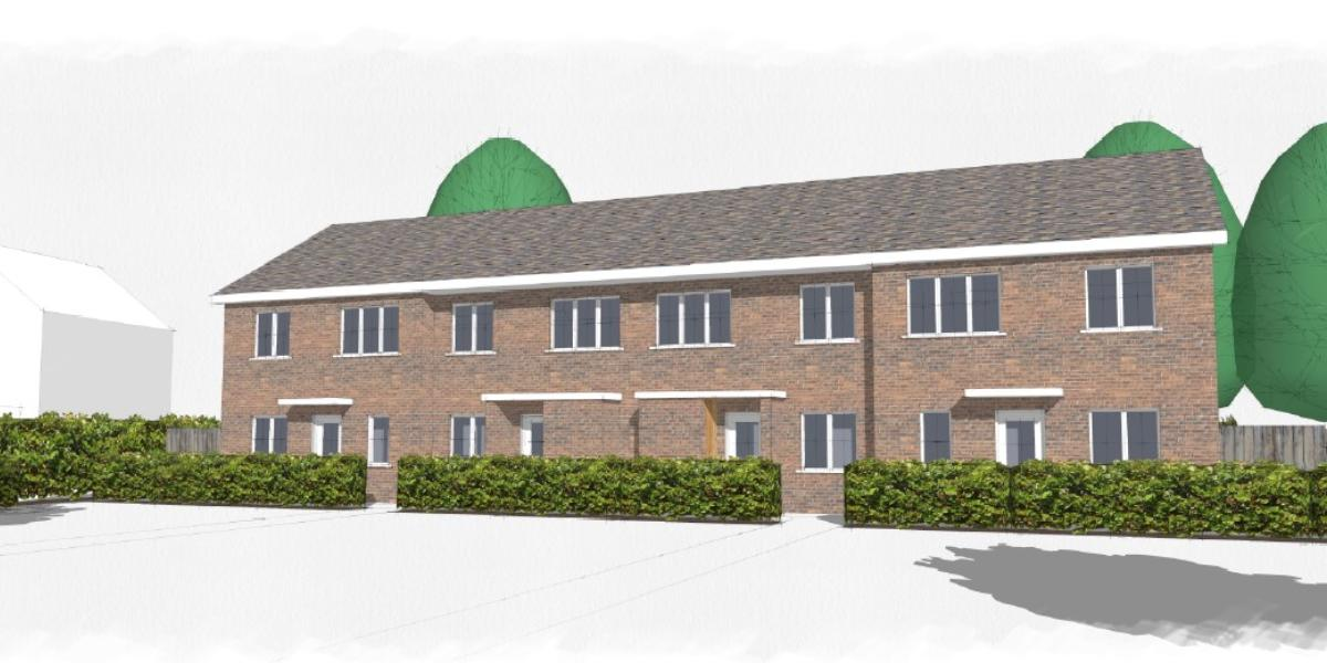 Artist's impression of new housing in The Commons
