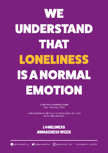 A poster highlighting loneliness
