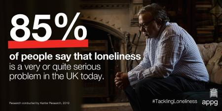 A poster with statistics about loneliness
