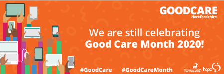 A banner promoting GOODCARE Hertforshire.