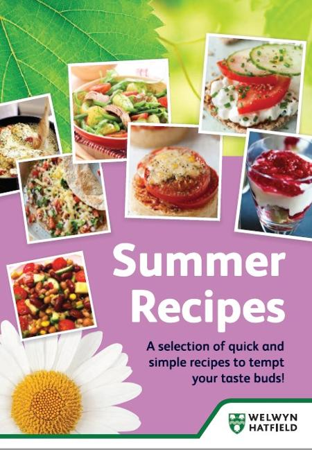 A selection of quick and simple recipes to tempt your taste buds - poster.
