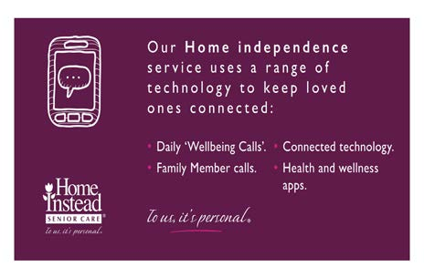 Our home independence service uses a range of technology to keep loved ones connected
