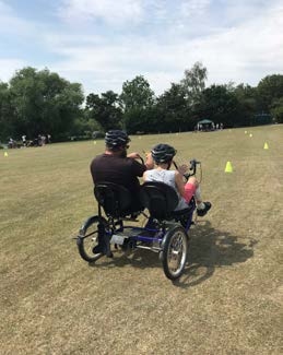 Wheelchair sports in action.