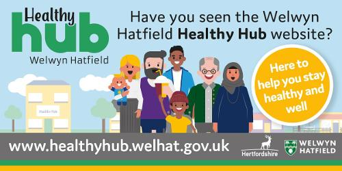An image relating to Welwyn Hatfield Healthy Hub website launching