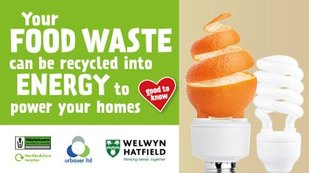 An image relating to Residents' food waste has so far powered 62 homes for a year (or the equivalent of watching Game of Thrones 72k times!)¹
