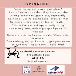 Image representing Disco Spinning/indoor cycling - Women only