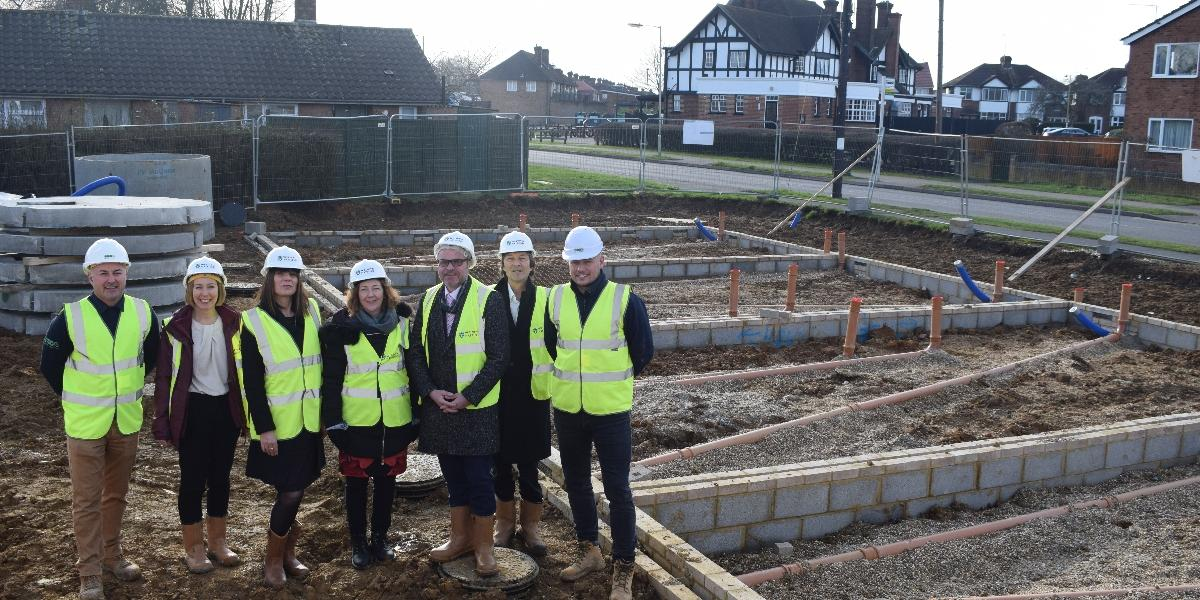 First brick laid at site for new council homes