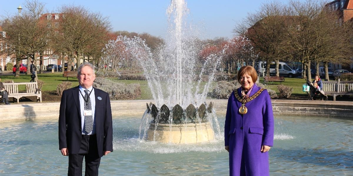 Revamped fountain unveiled
