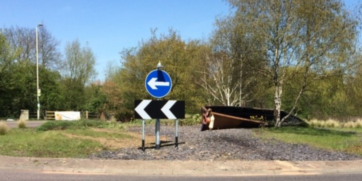 Boat to be removed from Stanborough roundabout