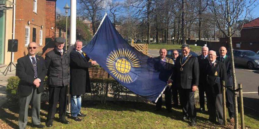 Commonwealth flag raising